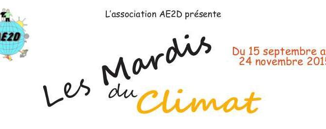 """""""Les mardis  du Climat"""" à Brest en  septembre/octobre et novembre 2015"""