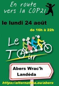 Rejoignez l'étape du tour Alternatiba  du 24 août  2015  de Landivisiau à Landéda